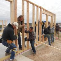 Wall Raising of Church Build